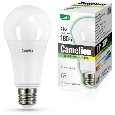 Лампа светодиодная груша Camelion 13164 E27 20W 3000K лампа светодиодная camelion led3 g45 830 е14