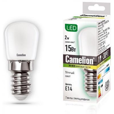 Лампа светодиодная цилиндрическая Camelion 13153 E14 2W 3000K лампа светодиодная camelion led3 g45 830 е14
