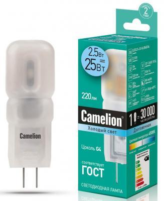 Лампа светодиодная капсульная Camelion LED2.5-JD-SL/845/G4 G4 2.5W 4500K 12348 цена