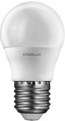 Лампа светодиодная ERGOLUX 12143 LED-G45-7W-E27-3K Шар 7Вт E27 3000K 172-265В лампа светодиодная [поставляется по 10 штук] eglo лампа светодиодная g45 e27 4вт 3000k 10762 [поставляется по 10 штук]