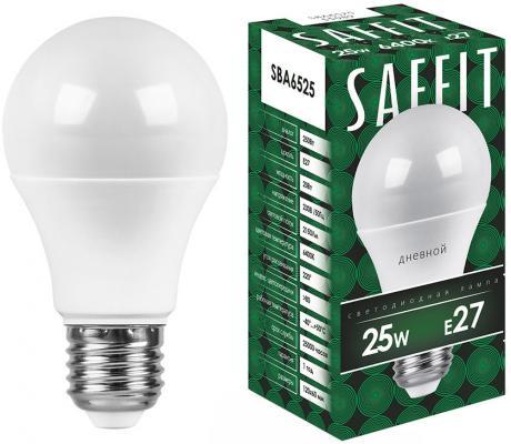 Лампа светодиодная шар Saffit 55089 E27 25W 6400K лампа светодиодная saffit 55087 25w 230v e27 2700k sba6525