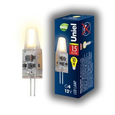 Лампа светодиодная капсульная Uniel LED-JC-12/1,5W/WW/G4/CL G4 1.5W 3000K лампа галогенная капсульная космос jc 12в 10вт g4