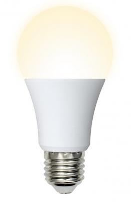 Лампа светодиодная VOLPE LED-A60-7W/WW/E27/FR/O матовая Теплый белый свет лампа светодиодная шар volpe led a60 8w nw e27 fr dim o e27 8w 3000k