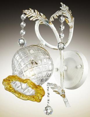 Бра ODEON LIGHT 2883/1W белый с золотой патиной е14 60Вт 220в timora бра odeon light 2883 1w