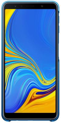 Чехол (клип-кейс) Samsung для Samsung Galaxy A7 (2018) Gradation Cover голубой (EF-AA750CLEGRU) клип кейс samsung gradation cover для samsung galaxy j4 2018 черный