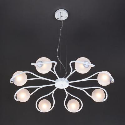 Подвесная люстра Eurosvet Camomile 70089/8 белый с серебром люстра eurosvet camomile 70089 10 белый с серебром