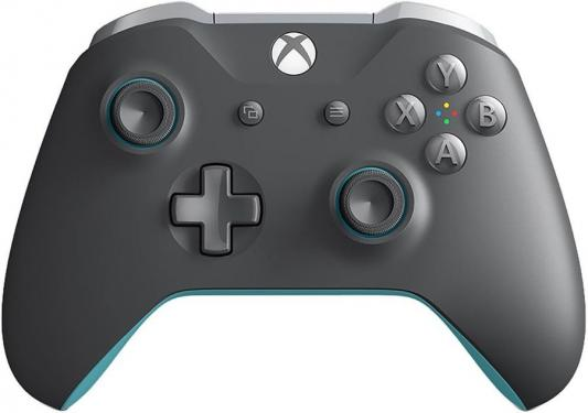 Геймпад Беспроводной Microsoft WL3-00106 серый/синий для: Xbox One геймпад microsoft xbox one controller minecraft creeper wl3 00057