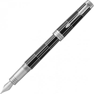 Ручка перьевая Parker Premier F565 Luxury (1931401) Black CT F перо золото 18K подар.кор. перьевая ручка parker premier monochrome f564 titanium pvd перо золото 18ct f s0960760