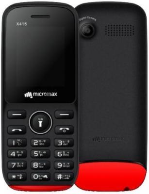 Мобильный телефон Micromax X415 черный красный