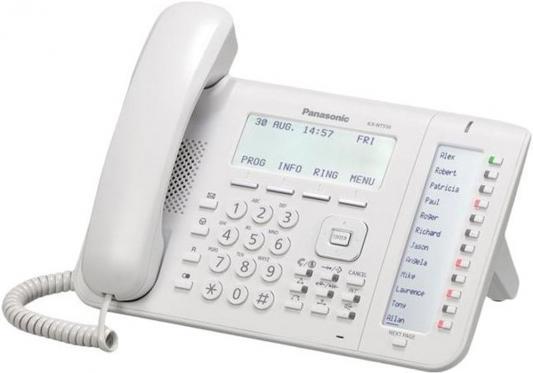 Телефон IP Panasonic KX-NT556RU белый panasonic kx nt556ru white