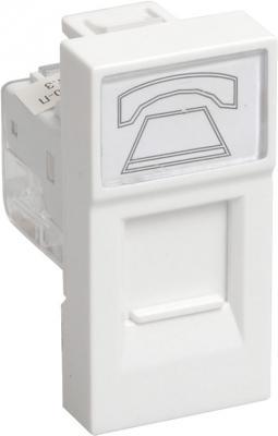 Фото - Iek (CKK-40D-RT1-K01) РКФ-10-00-П Розетка телефонная RJ-11 кат.3 (на 1 модуль) ПРАЙМЕР белая розетка телефонная rj 11 без рамки wl11 a040909