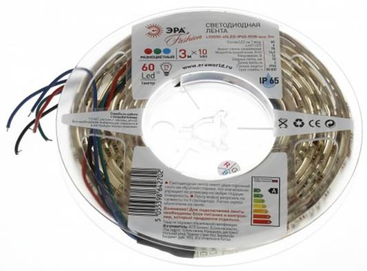 Купить ЭРА Б0002352 Лента светодиодная 14, 4Вт/м LS5050-60LED-IP65-RGB-eco-3m Полноцветный {Лента светодиодная 3м/10мм}, Эра