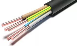Кабель силовой ВВГнг(А) Калужский кабельный завод 5x6 мм круглый 100м черный ГОСТ стоимость
