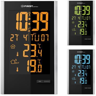2460-2 Метеостанция FIRST, USB-зарядка устройств, беспроводной датчик, комнатная и уличная темп. коптильня firewood 50х30х40см подставка датчик темп