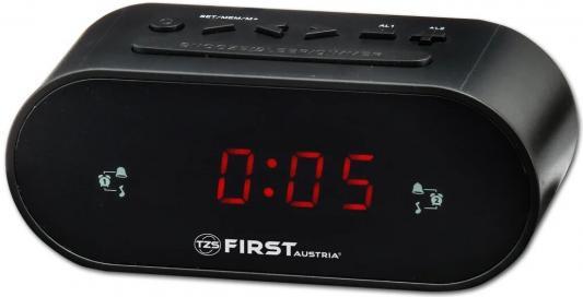 2406-5-BA Радиочасы FIRST LCD-дисплей 0.8&#039,&#039, (красный).Подключение батареи 1x3V SR2032