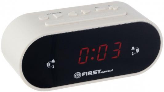 2406-5-WI Радиочасы FIRST LCD-дисплей 0.8&#039,&#039, (красный).Подключение батареи 1x3V SR2032