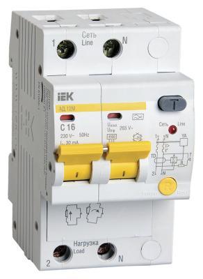 Iek MAD12-2-016-C-030 Диф.автомат АД12М 2Р С16 30мА ИЭК