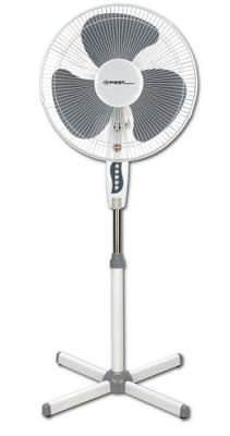 """5553-3 Вентилятор напольный FIRST, 40 Вт, 16""""/40 см, 3 скор., 102 луча, поворот, серый"""
