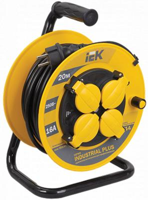 Iek WKP15-16-04-20-44 Катушка УК20 с т/з 4 места 2 Р + P Е /20метров 3х1,5мм2 IP44 Industrial plus катушка swd инерционная т 100