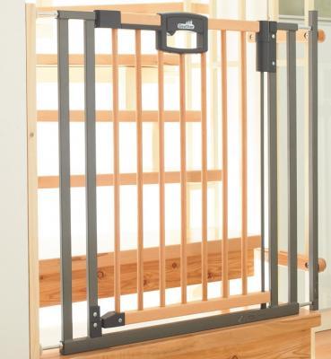 Ворота безопасности Easylock Wood 84,5-92,5х81,5, натуральный/серебро ворота безопасности дверные 86 121х93 5 133см geuther натуральный