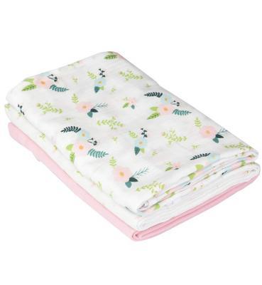 Купить Набор пеленок Muslin Swaddleme®, (3 шт.), розовый/цветы, Summer Infant, 102 х 102 см, Простыни