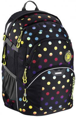 Школьный рюкзак светоотражающие материалы Coocazoo JobJobber2: Magic Polka Colorful 30 л черный желтый 00138724 coocazoo рюкзак jobjobber2 hip to be square