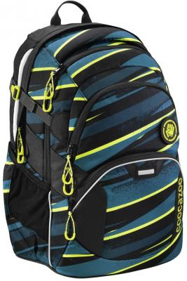 Школьный рюкзак светоотражающие материалы Coocazoo JobJobber2: Wild Stripe 30 л черный бирюзовый 00183620 рюкзак hama coocazoo jobjobber2 red district