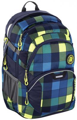 Школьный рюкзак светоотражающие материалы Coocazoo JobJobber2: Lime District 30 л синий желтый 00138722 рюкзак светоотражающие материалы coocazoo green purple district 30 л бирюзовый синий