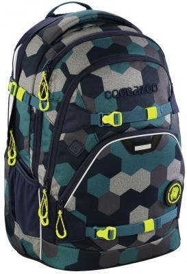 Школьный рюкзак светоотражающие материалы Coocazoo ScaleRale: Blue Geometric Melange 30 л синий бирюзовый 00183608 рюкзак светоотражающие материалы coocazoo green purple district 30 л бирюзовый синий