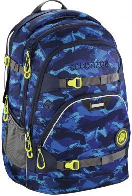 Школьный рюкзак светоотражающие материалы Coocazoo ScaleRale: Brush Camou 30 л синий 00183612 рюкзак светоотражающие материалы coocazoo green purple district 30 л бирюзовый синий