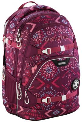 Школьный рюкзак светоотражающие материалы Coocazoo ScaleRale: Tribal Melange 30 л бордовый 00183611 lace up front tribal swimsuit