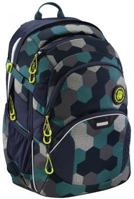 Школьный рюкзак светоотражающие материалы Coocazoo JobJobber2: Blue Geometric Melange 30 л синий бирюзовый 00183621 coocazoo рюкзак jobjobber2 hip to be square