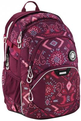 Школьный рюкзак светоотражающие материалы Coocazoo JobJobber2: Tribal Melange 30 л бордовый 00183624