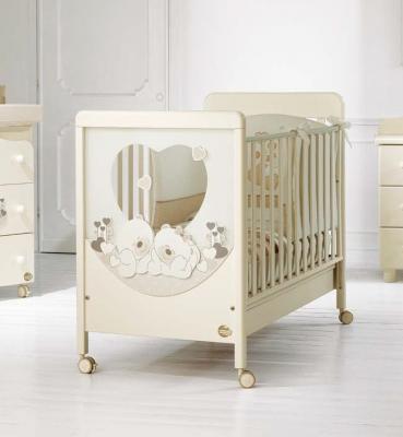 Купить Детская кровать Sogno Carezza кремовый, baby expert, массив бука / ДСП, Кроватки без укачивания