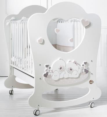 Купить Детская кровать Sogno белый/серо-бежевый, baby expert, массив бука / ДСП, Кроватки без укачивания