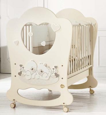 Купить Детская кровать Sogno кремовый, baby expert, массив бука / ДСП, Кроватки без укачивания