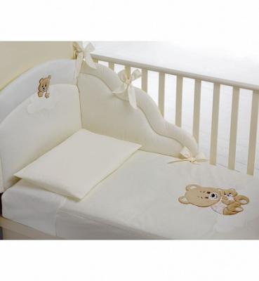 Купить Комплект белья из 3-х предметов Abbracci by Trudi, крем, Baby Expert, кремовый, 110 х 130 см, Постельные сеты