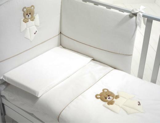Купить Комплект белья из 4х предметов Trudino белый, Baby Expert, 100 х 130 см, Постельные сеты