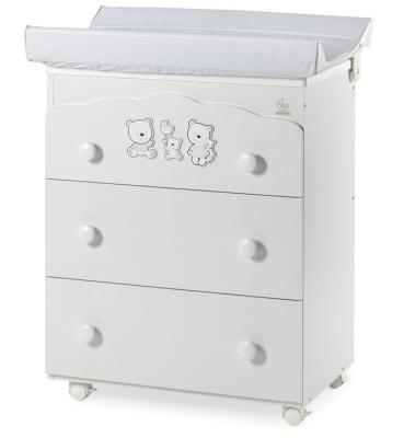 Комод пеленальный Happy Family (3 ящика), белый стеллаж grifon style комод r800 на 3 ящика
