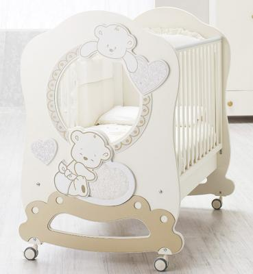Купить Детская кровать Love Oblo, крем, Italbaby, кремовый, массив бука / МДФ, Кроватки без укачивания