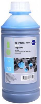 Чернила Cactus CS-EPT6735-1000 светло-голубой 1000мл для Epson L800/L810/L850/L1800