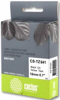 Картинка для Картридж ленточный Cactus CS-TZ641 черный для Brother 1010/1280/1280VP/2700VP