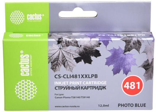 Фото - Картридж струйный Cactus CS-CLI481XXLPB фото голубой (12мл) для Canon Pixma TS8140/TS9140 фото