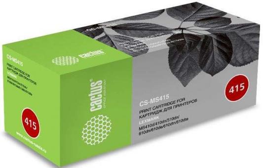 Тонер Картридж Cactus CS-MS415 50F1X00/50F4X00/50F5U00 черный (10000стр.) для Lexmark MS410d/410dn/510dn/610dn/610de/610dtn/610dte цена