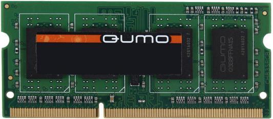Оперативная память 4Gb (1x4Gb) PC3-12800 1600MHz DDR3 SO-DIMM CL11 QUMO QUM3S-4G1600C11 оперативная память 4gb pc3 12800 1600mhz ddr3 qnap для ss ecxx79u sas rp ts ecxx79u sas rp ts ecxx79u rp ram 4gdr3ec ld 1600