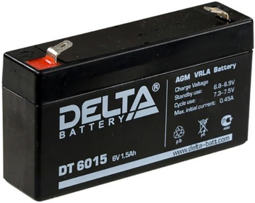 Delta DT 6015 (1,5 А\\ч, 6В) свинцово- кислотный аккумулятор аккумулятор delta gx 12 120 12v 120 а ч gel