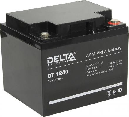 Delta DT 1240 (40 А\\ч, 12В) свинцово- кислотный аккумулятор аккумулятор delta gx 12 120 12v 120 а ч gel