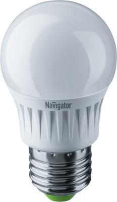 Лампа светодиодная шар Navigator NLL-G45-7-230-2.7K-E27 E27 7W 2700K лампы галогеновая шар g45 28w e27