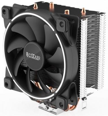 PCCooler GI-X2 Кулер GI-X2 S775/115X/AM2/AM3/AM4 (24 шт/кор, TDP 105W, вент-р 120мм с PWM, 2 тепловые трубки 6мм, белая LED подсветка, 1000-1800RPM, 26.5dBa)