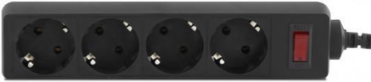 Сетевой фильтр CBR CSF 2450-5.0 Black CB, длина кабеля 5 м, 4 розетки, чёрный цвет, цветная коробка, CSF 2450-5.0 Black CB цена